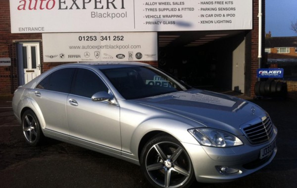 Mercedes S Class Window Tinting & Upgraded Wheels