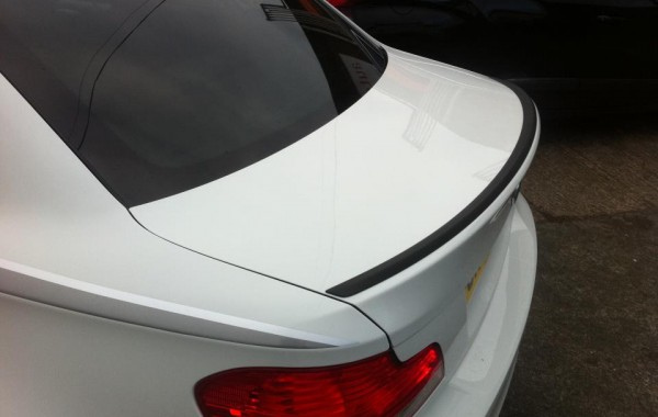 BMW 135i Carbon Wrapped Boot Spoiler