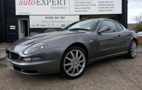Maserati in for Wheel Repairs