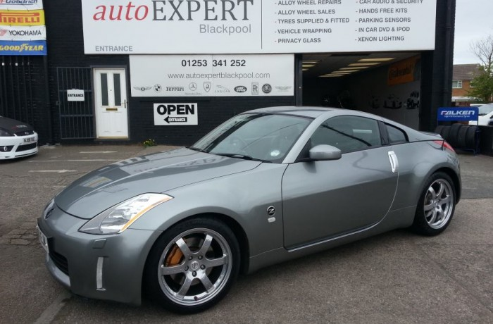 NISSAN 350Z WITH WHEELS REPAIRED AND REFURBISHED