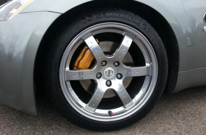 NISSAN 350Z FULL ALLOY WHEEL REFURBISHMENT IN CHROME EFFECT