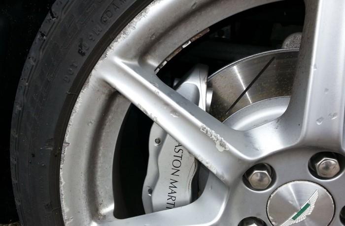 Aston Martin Vantage Kerb Damage