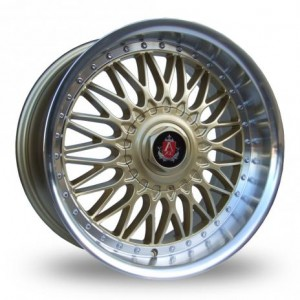 Axe Gold Alloy Wheels