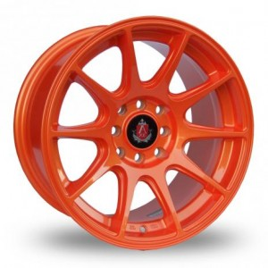 Axe 10 Spoke Orange Alloy Wheels