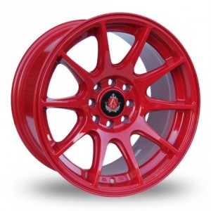 Axe 10 Spoke Red Alloy Wheels