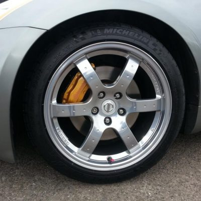 Nissan Alloy Wheel Chrome Effect
